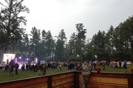 The glade before the evening performance, July 2017